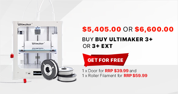 Ultimaker 3+ or 3+ Ext